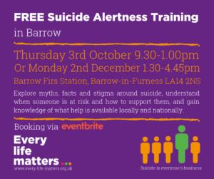 FREE Suicide Alertness Training - Barrow @ Barrow Fire Station
