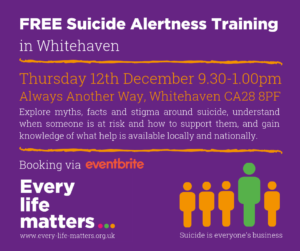 FREE Suicide Alertness Training - Whitehaven @ Always Another Way