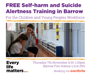 FREE Self-harm & Suicide Alertness Training - Barrow @ Barrow Fire Station